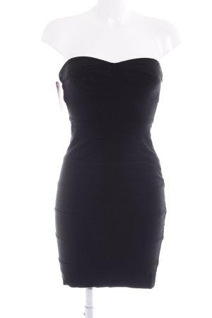 Zara Basic Bustierkleid schwarz Elegant