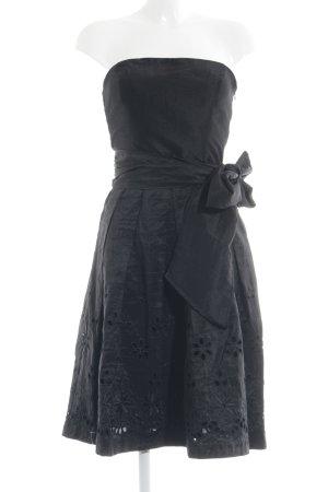 Zara Basic Bustierkleid schwarz florales Muster Elegant