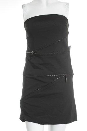 Zara Basic Vestido bustier negro estilo fiesta