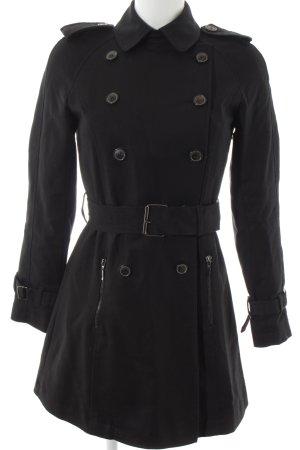 Zara Basic Cabanjacke schwarz klassischer Stil