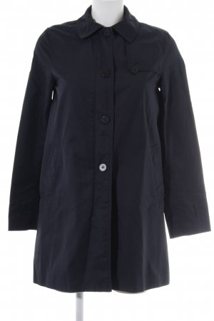 Zara Basic Heavy Pea Coat dark blue business style
