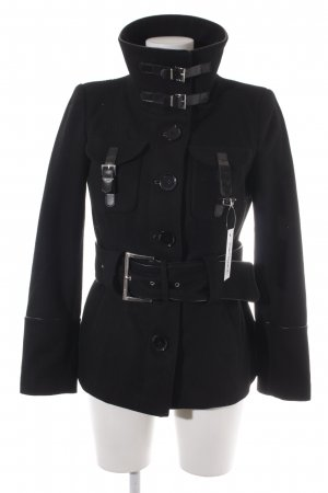 Zara Basic Heavy Pea Coat black Brit look