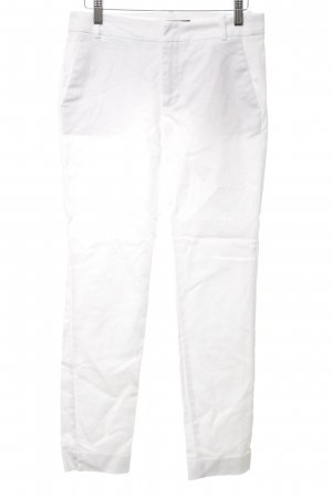 Zara Basic Caprihose weiß Casual-Look