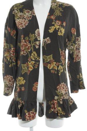 Zara Basic Cardigan Blumenmuster Street-Fashion-Look