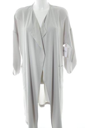 Zara Basic Cardigan hellgrau Casual-Look