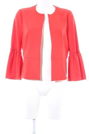 Zara Basic Cardigan rood zakelijke stijl