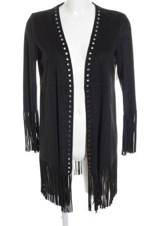 Zara Basic Cardigan black hippie style