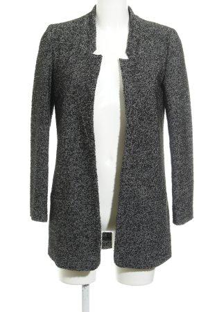 Zara Basic Cardigan schwarz-weiß meliert Casual-Look
