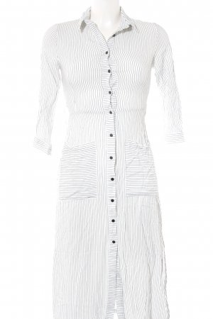 Zara Basic Cargo Dress white-black striped pattern business style