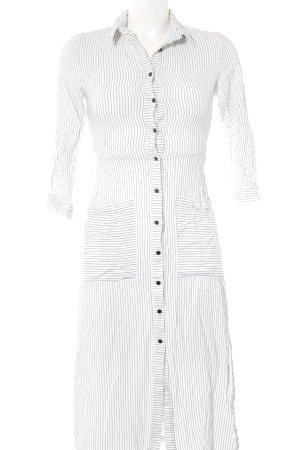 Zara Basic Cargokleid weiß-schwarz Streifenmuster Business-Look