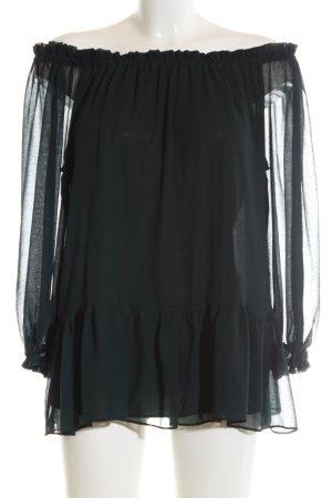 Zara Basic Carmen Blouse black casual look