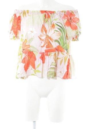 Zara Basic Blusa alla Carmen stampa integrale stile casual