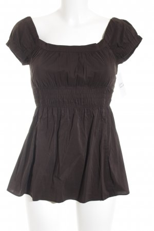 Zara Basic Carmen-Bluse schwarz Casual-Look