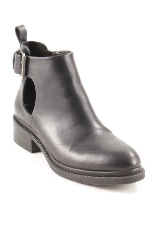 Zara Basic Stivale Chelsea nero-argento stile casual