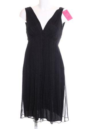 Zara Basic Chiffon Dress black business style