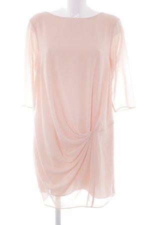 Zara Basic Robe chiffon abricot style classique