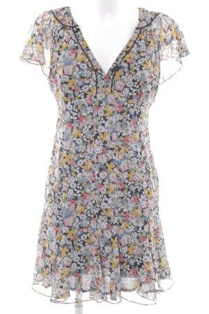 Zara Basic Chiffonkleid Blumenmuster Casual-Look