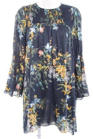 Zara Basic Chiffonkleid florales Muster Casual-Look