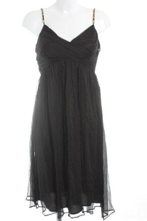 Zara Basic Vestido de chifón negro elegante