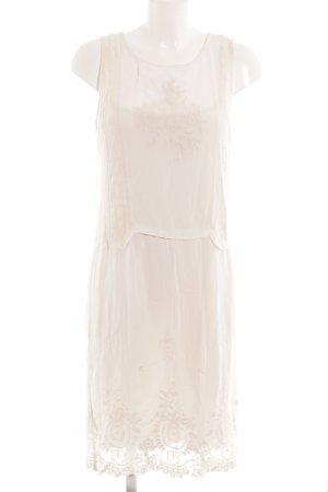 Zara Basic Robe chiffon blanc cassé motif floral style romantique