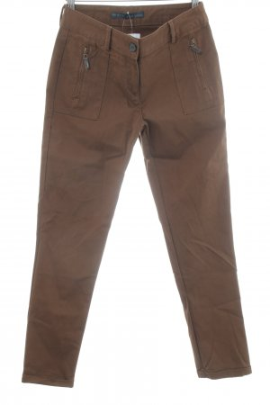 Zara Basic Pantalone chino marrone stile casual