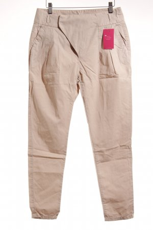 Zara Basic Chinohose creme Casual-Look
