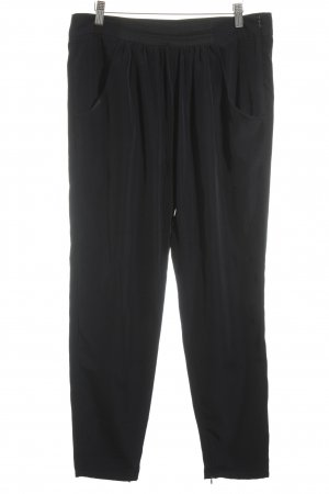 Zara Basic Chinohose dunkelblau-schwarz Business-Look