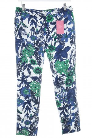 Zara Basic Chinohose florales Muster Casual-Look