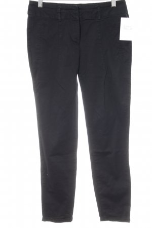 Zara Basic Chinohose schwarz Casual-Look