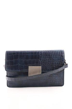 tolle Passform heiß-verkauf echt Markenqualität Zara Basic Clutch dunkelblau Animal-Look