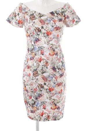 Zara Basic Cocktailkleid florales Muster Romantik-Look