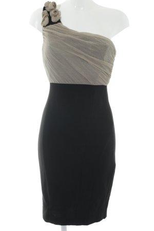 Zara Basic Cocktailkleid schwarz-hellbeige Elegant