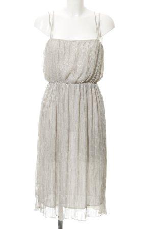 Zara Basic Cocktailkleid silberfarben 20ies-Stil