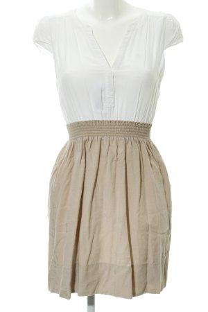 Zara Basic Cocktailkleid weiß-beige Elegant