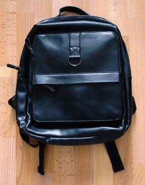 Zara Backpack black imitation leather