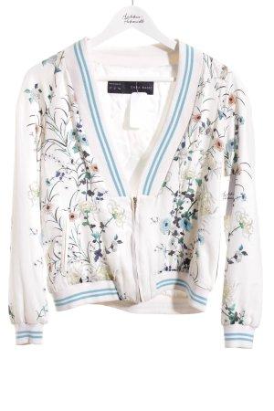 Zara Basic Collegejacke florales Muster College-Look