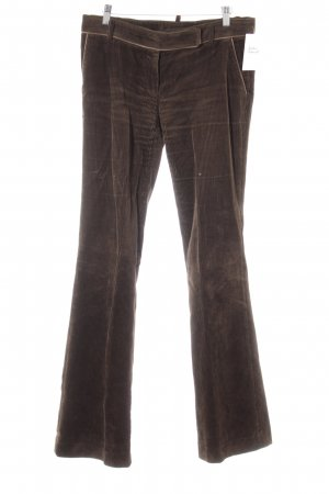 Zara Basic Corduroy broek donkerbruin casual uitstraling