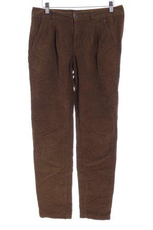 Zara Basic Pantalone di velluto a coste grigio-verde stile casual