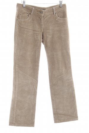 Zara Basic Corduroy Trousers sand brown casual look