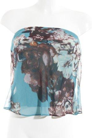 Zara Basic Top corto motivo floreale Stile Boho