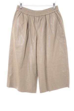Zara Basic Pantalone culotte marrone chiaro stile casual