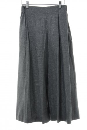 Zara Basic Culottes hellgrau-silberfarben Party-Look