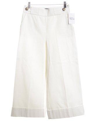 Zara Basic Culottes weiß Casual-Look