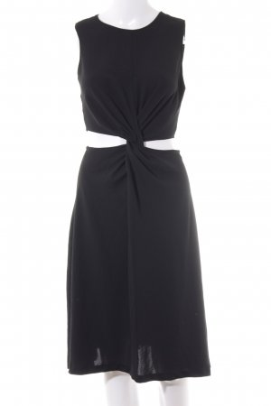 Zara Basic Cut-Out-Kleid schwarz Elegant