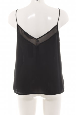 Zara Basic Cut-Out-Top schwarz Casual-Look