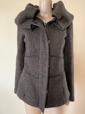 Zara Basic Wollen jas brons-zwart bruin
