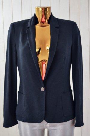 ZARA BASIC Damen Blazer Jerseyblazer Jacke Jersey Schwarz Gefüttert Einknopf M