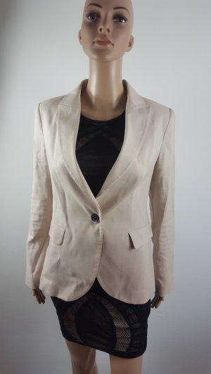 Zara Basic Damen Jersey Blazer creme beige Größe M Business Look