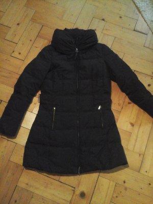 Zara Basic Abrigo de plumón negro