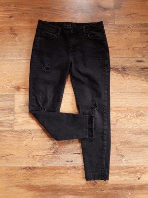 Zara Basic Boyfriend Jeans black-anthracite